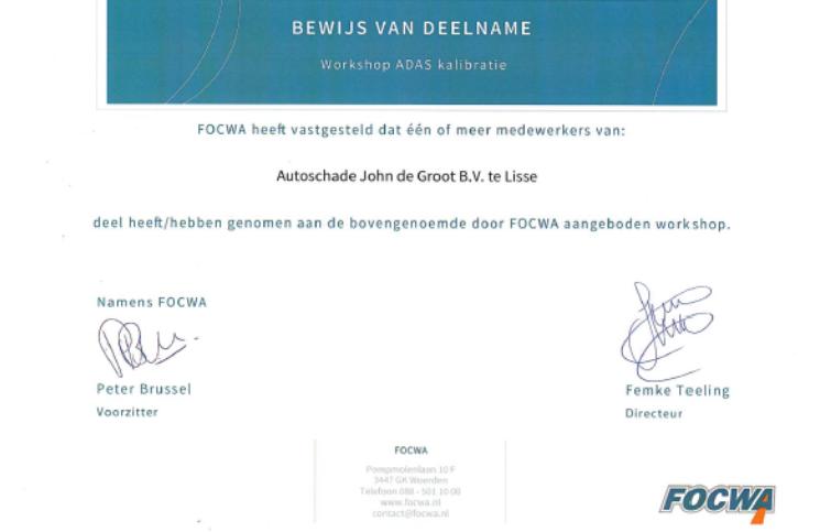 ADAS certificaat